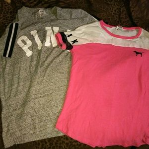 Two Victoria secret pink shirts